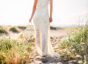 romantic bridal portrait on the beach in seattle
