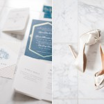 brides shoes on marble - seattle wedding photography