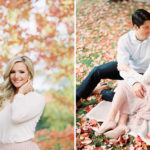 woodinville engagement photos fall foliage film