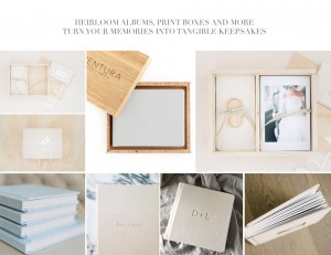 Seattle Wedding Photographer Albums and flash drives