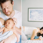 Fine art film newborn photography Seattle
