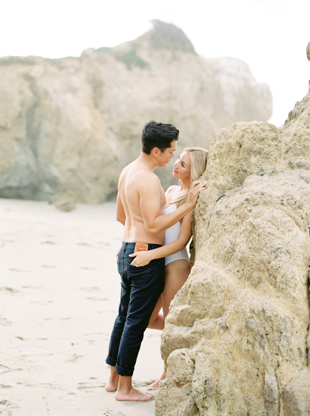 malibu engagement photos film